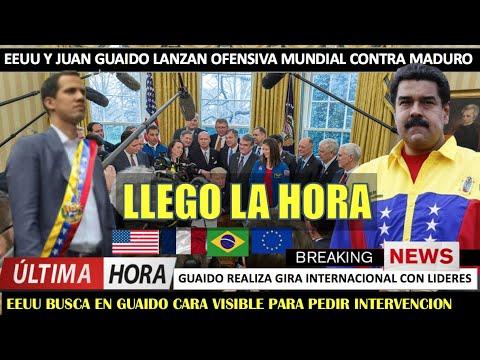 El fin de Maduro Guaido lanza ofensiva mundial – YouTube