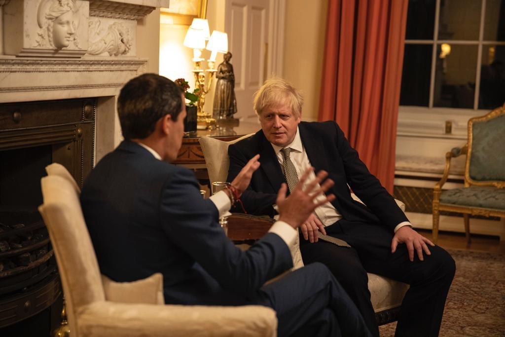 ¡LLEVAN MORINGA A MIRAFLORES! Boris Johnson, primer ministro del Reino Unido, se reúne con Juan Guaidó: le ratifica su apoyo