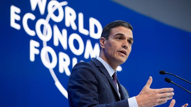 El «road business» de Pedro Sánchez en Davos